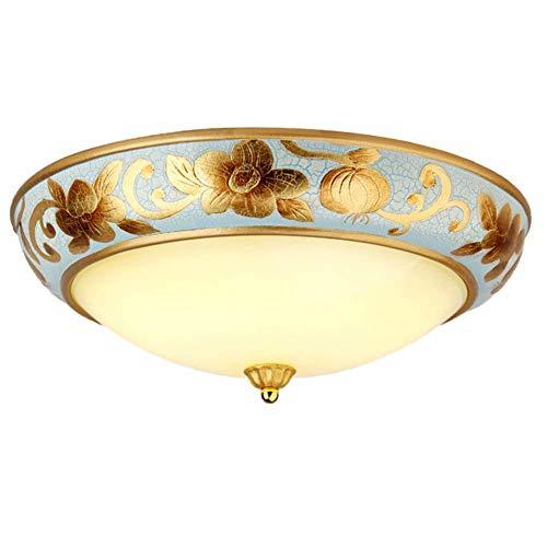 KK Timo lamparas techo LED 15W 20 pulgadas Luz de techo de hierro de arte regulable, Luces redondas de montaje semi empotrado Baño Cocina Pasillo Balcón Sala de estar-Tres tonos Luz-C 50X15cm (20x6 pu