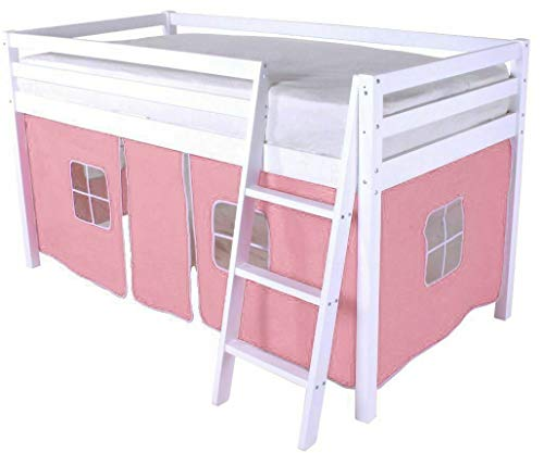 HLS Tent for Midsleeper Cabin Bed - (Baby Pink)