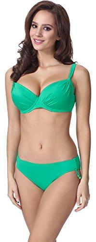 Feba Donna Modellante Corpo Push Up Bikini F03 (Motivo-213, EU Cup 80G / Parte Inferiore 40 = IT (Cup 3G / Parte Inferiore 46))