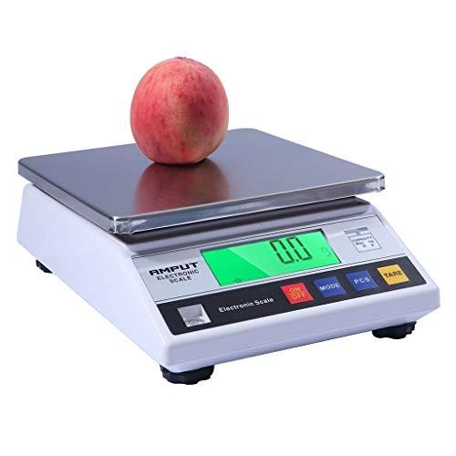 WCX digitale keukenweegschaal van roestvrij staal, zeer nauwkeurige elektronische weegschaal, LCD-HD-display voor groente en fruit, restaurant, eten