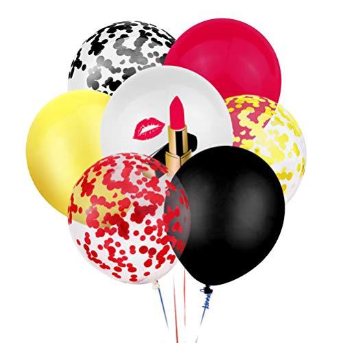 TOYANDONA 40 Stück Junggesellenabschied Luftballons Latex Bedruckte Luftballons Pailletten Konfetti Lippenstift Lustig für Erwachsene Junggesellenabschied 12 Zoll