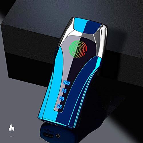 Lichtbogen Feuerzeug,USB-Elektro Feuerzeug,Elektronische Feuerzeug,Aufladbar/Winddicht/Lange Lebensdauer Plasma Feuerzeug-Touchscreen Elektro Feuerzeug LED Dual Lichtbogen ARC Feuerzeug (Blue)