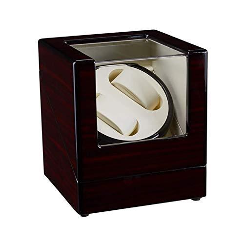 JQCHY Watch Winders - Reloj mecánico con Pintura de patrón de ébano de 2 dígitos, Dispositivo de Cuerda automática, Caja de Almacenamiento de Relojes para Hombres y Mujeres, agitador de Reloj antima