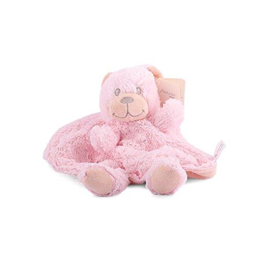 Sonnenscheinschuhe® 1 x Baby Schmusetuch Bär Rosa Kuscheltuch Babytuch Kuscheltier Nr.2 Tuch