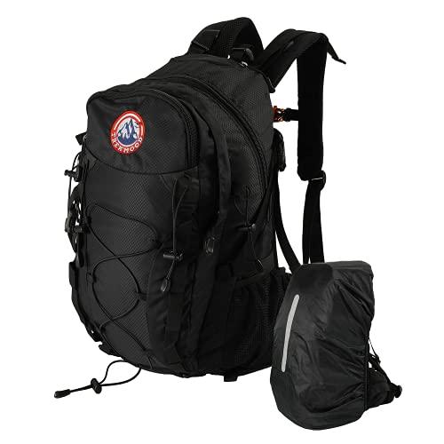 TREKMOOD Wanderrucksack (40L) – Outdoor Rucksack mit Trinkflasche & Regenschutz – Reiserucksack für Damen und Herren mit vielen Fächern zum verstauen