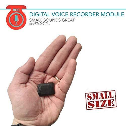 Mini Modul Spionage Rekorder Stimmenaktivierter | 8GB 570 Stunden | Nur 8mm dünn | HQ Stimme 1536kbps | 20 Stunden Batterie | Gehäuse aus Schrumpfschlauch