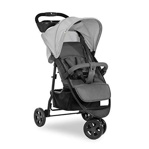 Hauck Citi Neo 3 Dreirad Buggy bis 25 kg mit Liegeposition ab Geburt, klein zusammenfaltbar, Einhand-Faltmechanismus, 3 Räder, ultraleicht - nur 7,5 kg, Getränkehalter - grau, 311271