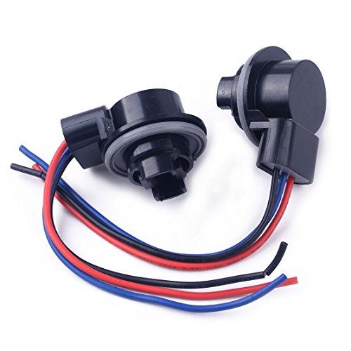 beler 2 Pcs 3157 3057 3155 De Voiture Ampoule Socket De Frein Clignotant Socket Fil Harnais Plug Adapter