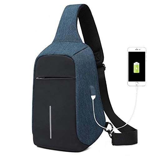 CMZ Backpack Outdoor Riding Cross-Bag Multi-Layer Storage Anti-Theft Chest Bag Spring and Summer Leisure Chest Bag Male USB Charging Bag