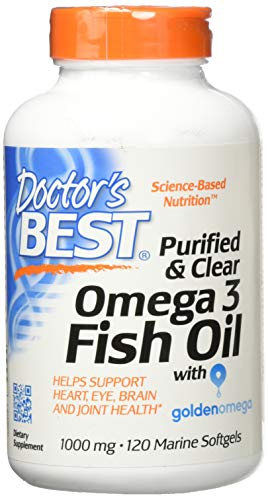 Doctor's Best Purified & Clear Omega 3Fish Oil, No Reflux, Supports Heart, Eyes, Brain & Joint Health