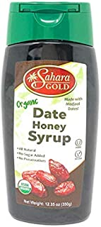 Sahara Gold Organic Pure Date Honey Syrup Kosher 100% Healthy   Low Glycemic Paleo Natural Sweetener No Sugar Added   Vega...