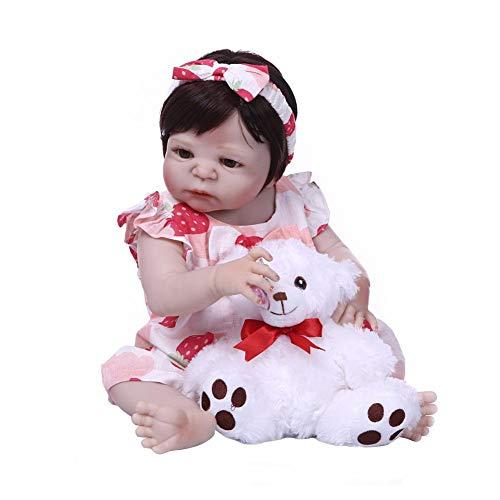 Bambola Reborn da 57 cm, realistica, giocattolo per bambola, Reborn in silicone, completa per bambini, educazione precoce, regalo di compleanno
