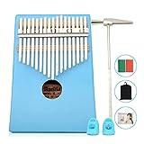 Apelila 17 Key Kalimba Thumb Piano, Solid Mahogany Wood Body Finger Piano with Tune...