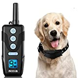 MODUS Dog Training Collar - Rechargeable Dog Shock Collar with Remote, 1300ft, 3 Training Modes, 9 Levels Beep & Vibration & Shock, No Harm Waterproof Shock Collar for Dogs, Fit Small Medium Large Dog