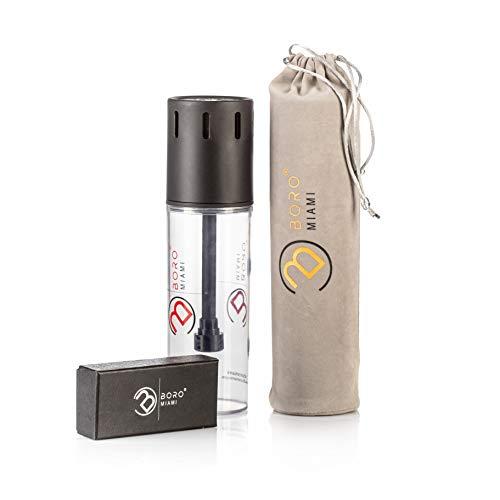Boro® Shisha to Go Wynwood Premium Shisha für unterwegs im Auto, Festivals, Strand – Wasserpfeifen Set inkl. Shishatasche mit Windschutz (inkl. Boro Bag)