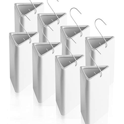 BonAura® Luftbefeuchter Heizung Set aus Keramik - 8 Stück Heizkörper Verdunster mit Haken inklusive Duftöl - Wasserverdunster mit kostenlosem Aroma Öl (Citrus Duft)