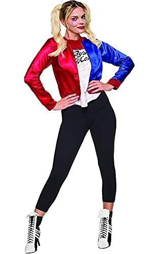 Generique - Veste et t-Shirt intégré Harley Quinn Suicide Squad Femme Taille L
