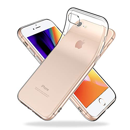 Youriad iPhone SE / 8 / 7 ケース カバー 新型 2020 SE 対応   透明 クリア ソフト   特徴 軽量 インチ 薄型 ストラップ 滑り止め ワイヤレス充電対応 落下防止 TPU(iPhone8 iPhone7 新型 2020 iPhoneSE 第2世代 専用)