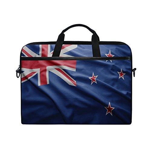 Neuseeländische Flagge, 35,6 cm (14 Zoll) Laptoptasche, Umhängetasche, Aktentasche mit Handgriff für Damen & Herren