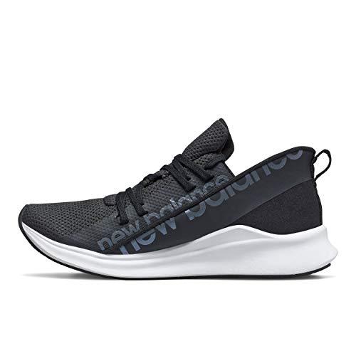 New Balance womens Powher Run V1 Sneaker, Black/White, 8.5 US
