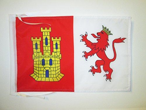 AZ FLAG Bandera de la Provincia DE CÁCERES 45x30cm - BANDERINA CÁCERES ENExtremadura 30 x 45 cm cordeles