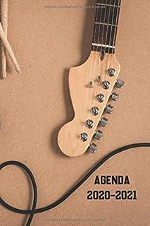 AGENDA 2020 2021: Agenda guitare collège lycée étudiant pour planifier une année réussie