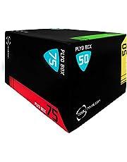 Body Revolution Plyo Box – 3 i 1 mjuk skumplyometrisk hoppbox – aeroba och gym steglådor för träning med 3 vertikala och horisontella höjdnivåalternativ – 3 storleksvariationer tillgängliga