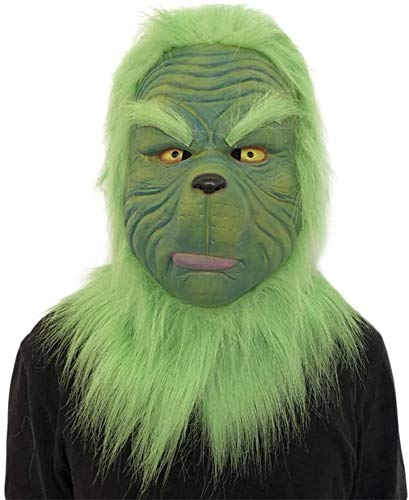 JHYS Divertido Monstruo de Pelo Verde Grinch, Accesorios de Cosplay, máscara, Guantes, Fiesta de Navidad, Divertido Sombrero de Fiesta de Terror, Fiesta de Parodia (Sombrero)