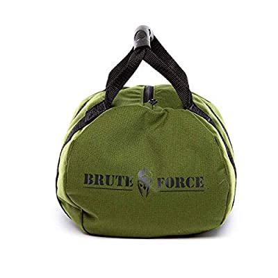 Brute Force Kettlebells: Adjustable Kettlebell, The Perfect Workout Equipment for Home + Crossfit Equipment, Sandbag Training with Sand Kettlebells (OD Green: 0-45lbs) from Brute Force Sandbags