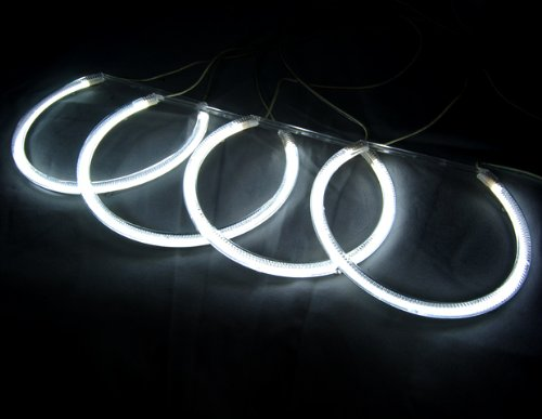 Excellent Impressive 7000K Angel Eye Halo Ring Light Lamp CCFL For BMW E46 3-Series 1999-2005 4 Door Sedan Models