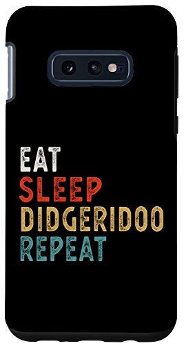 Galaxy S10e Vintage Eat Sleep Didgeridoo Repeat Funny Didgeridoo player Case