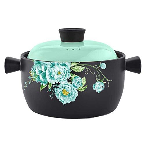 Pots De Côtes Levées Pour 4-6 Personnes, Casseroles Gourmandes Pour Le Dîner En Casserole Poêles à Braiser Au Poulet Et Au Curry Poêle Antiadhésive Pot En Céramique Facile à Nettoye(Color:B,Size:5L)