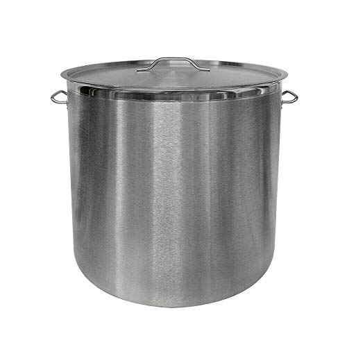 Thaweesuk Shop 24' Industrial Stock Pot Steamer Vaporera Tamalera For TamalesBrewing Mash Tun Stainless Steel Cazo Stove Diameter 24' x Height 23' of Set