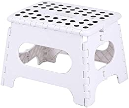 Thickened Plastic Folding Stool Stool Stool Mazar Adult Chair Bathroom Children Portable Portable Portable Bench (Ivory,29x22x22cm)