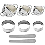 Skycool Dumpling Maker, 8Pcs Dumpling Mold Set and Cutter Stainless Steel Empanada Press for Ravioli Pastry Pie Wrappers Kitchen Accessories