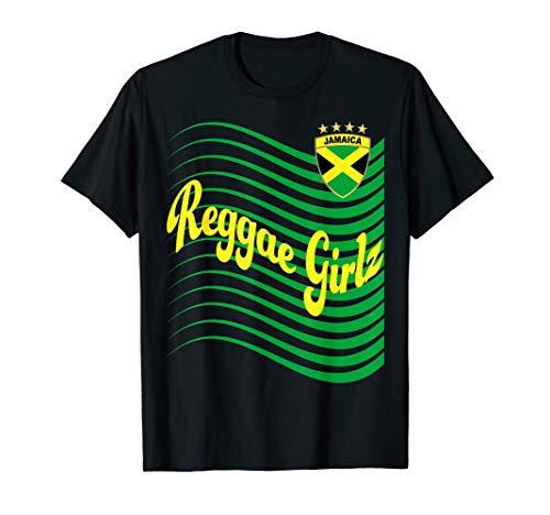 Jamaica Reggae Girls Soccer Jersey Jamaican Football T-Shirt