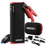 GREPRO Booster Batterie - 1500A 21000mAh Portable Jump Starter, Demarreur de Voiture (Jusqu'à 8.0 L d'essence, 6.5 L de Diesel), Lamp LED, Deux Port de Charge et Port DC