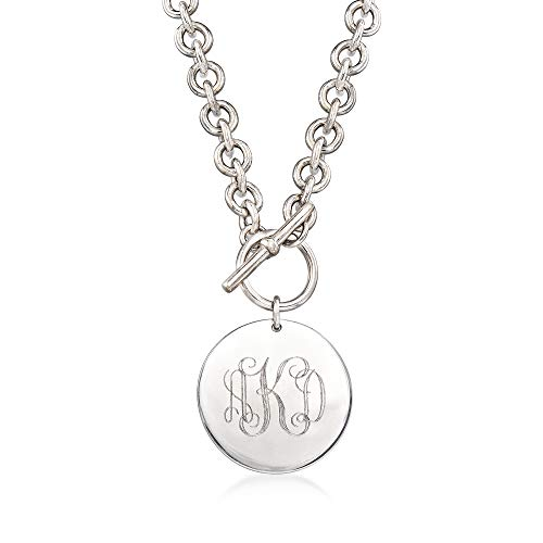 Ross-Simons Italian Sterling Silver Personalized Disc Necklace