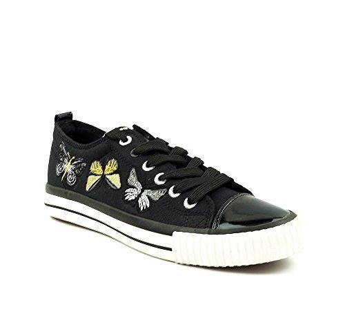 British Knights Sneaker Kinder Schuhe Black Canvas Größe EU 37 / UK 4