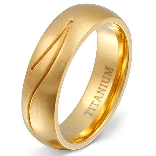 Juwelier Schönschmied - Damen Trauring Ehering Golden River Titan 56 (17.8) T19Hac