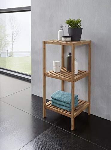 Badregal Bambus A Massiv Badezimmerregal Standregal Regal Gäste-WC Bad