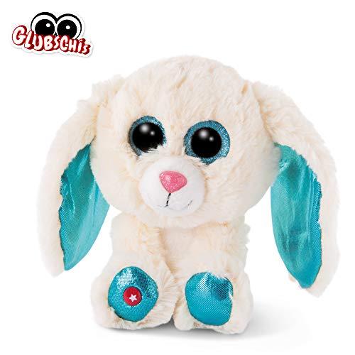 NICI 46617 Glubschis Kuscheltier Hase Wolli-Dot 15cm, Flauschiges Plüschtier mit großen Glitzeraugen, süßes Stofftier für Kinder und Kuscheltierliebhaber