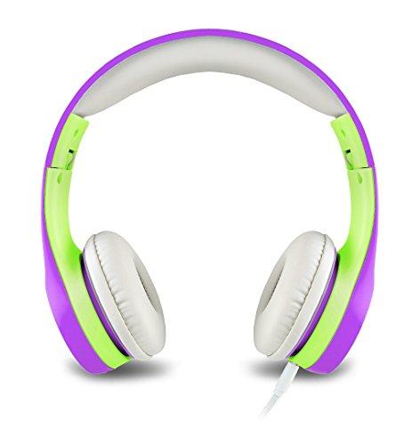 Kopfhörer für Kinder Mit Begrenzter Lautstärke und Abnehmbarem Kabel für Jungen und Mädchen (Purple)