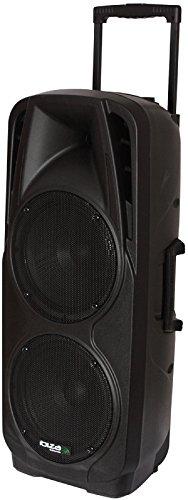 """PORT225VHF-BT - Ibiza Sound - MOBILE BESCHALLUNGSANLAGE 2 X 10""""/25CM 600W MIT USB, SD, BT, VOX & 2 VHF FUNKMIKROFONEN"""