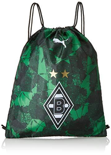 PUMA Unisex– Erwachsene BMG Fanwear Gym Sack Turnbeutel, Black-Bright Green, UA