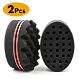 Best Curl Sponge Hair Brush For Twists And Coils - RioRand 2 Pack Magic Barber Sponge Twist Hair Review
