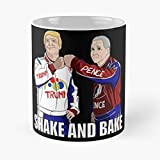 Shake And Bake Trump Pence Classic Mug - 11 Ounce For Coffee, Tea, Cocoa Mulled Drinks, The Best Gift Holidays
