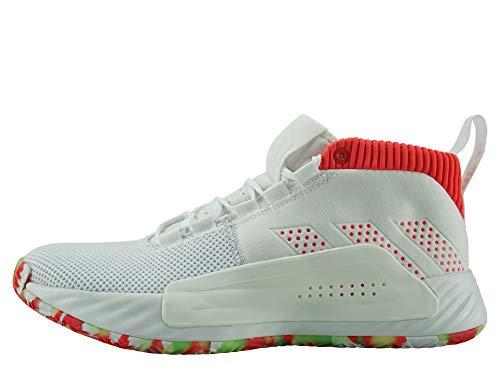 adidas Performance Dame 5 All Skate Basketballschuh Herren weiß/rot, 44 EU - 9.5 UK - 10 US