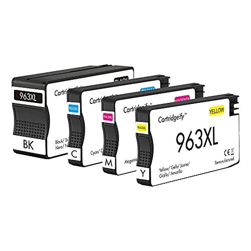 Cartridgeify 963XL - Cartuchos de tinta compatibles con HP 963 963XL para HP OfficeJet Pro 9010, 9012, 9015, 9016, 9019, 9020, 9022, 9025