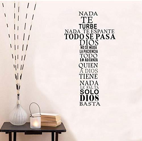 Pegatinas De Pared Cita Española Etiqueta De La Pared Cruz Cristiana
